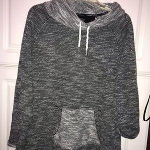 Calvin Klein Heather Gray Mockneck Sweater
